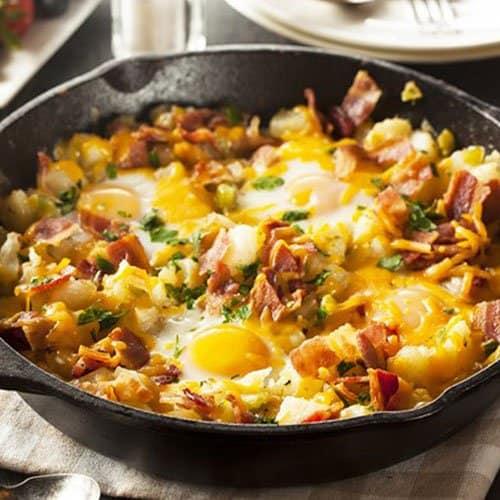 Bacon, Egg & Cheese Potatoes
