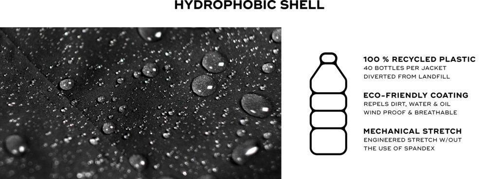 habelis bomber jacket hydrophobic shell