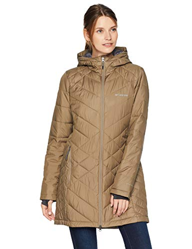 a9c6e892ab7 The unique combination of materials used in the design of the Columbia  Heavenly Long Hooded Jacket all serves ...