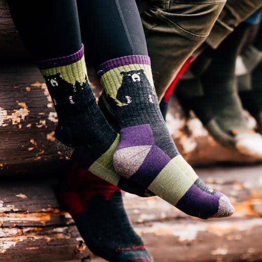 Women's Bear Town Micro Crew Lightweight Hiking Sock | DarnTough