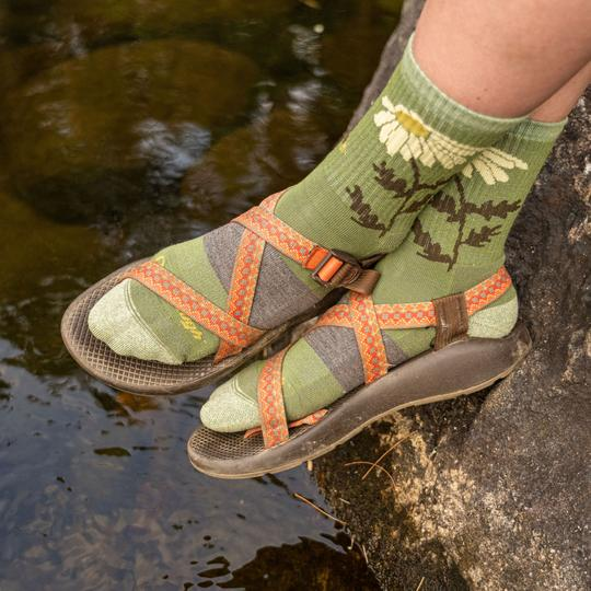 Women's Queen Bee Micro Crew Lightweight Hiking Sock | DarnTough